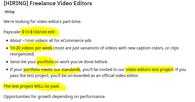 Hiring Freelance Video Editors